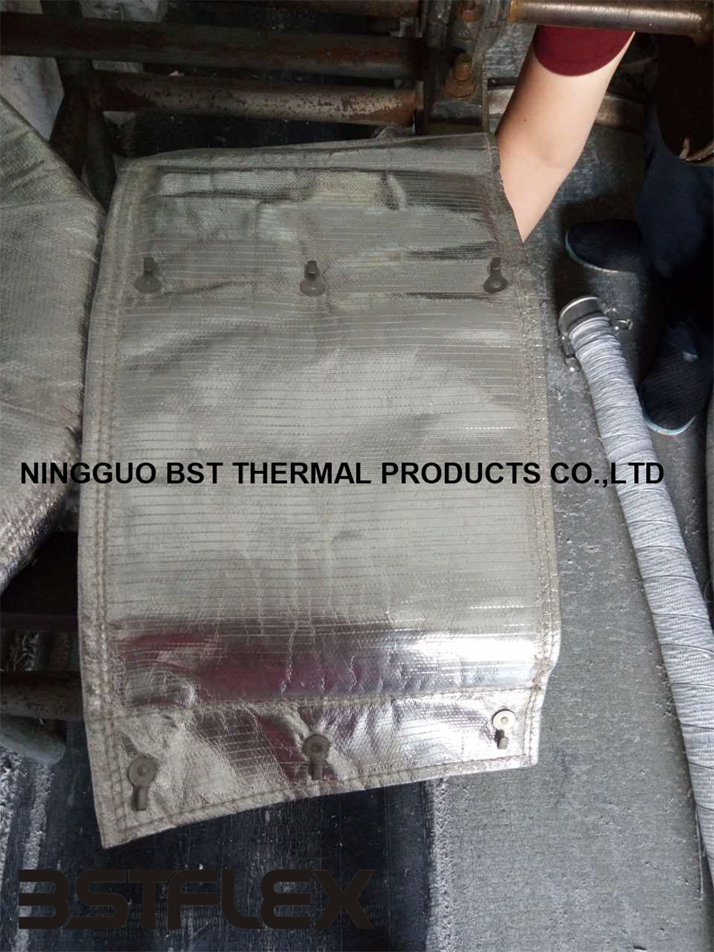 Removable heater insulation material