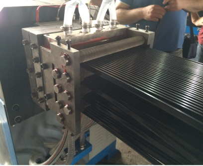 Polyamide strip extruder machine