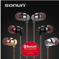 Good stereo sound flat cable bluetooth earphone with mic