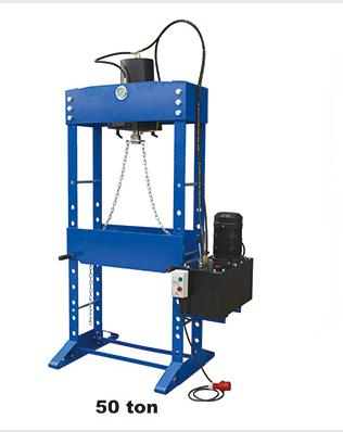 Motorized operated workshop press /50t FH MT