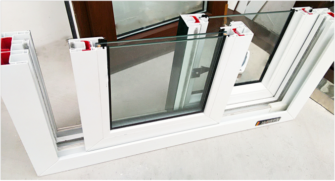 88mm series white color plastic profile for pvc window and door