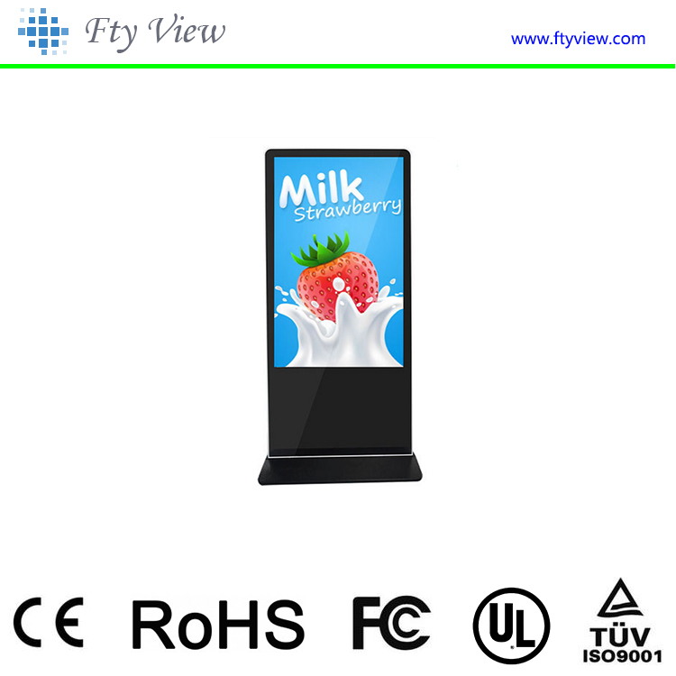 42 Inch stand alone lcd advertising digital signage video display with touch screen