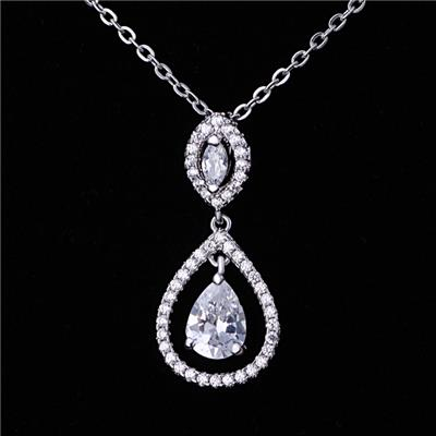 High Quality Costume Jewelry Sterling Silver Necklace