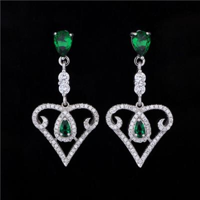 Fashion Crystal 925 Sterling Silver Earring For Women