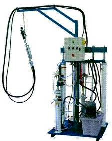Dual-component rubber extruder