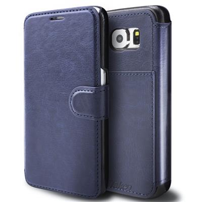 Blue Leather Case For Samsung Galaxy S6