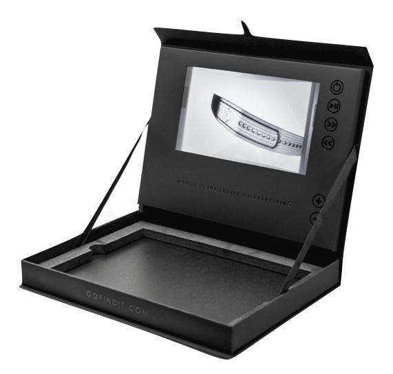 digital jewelry box video player package box