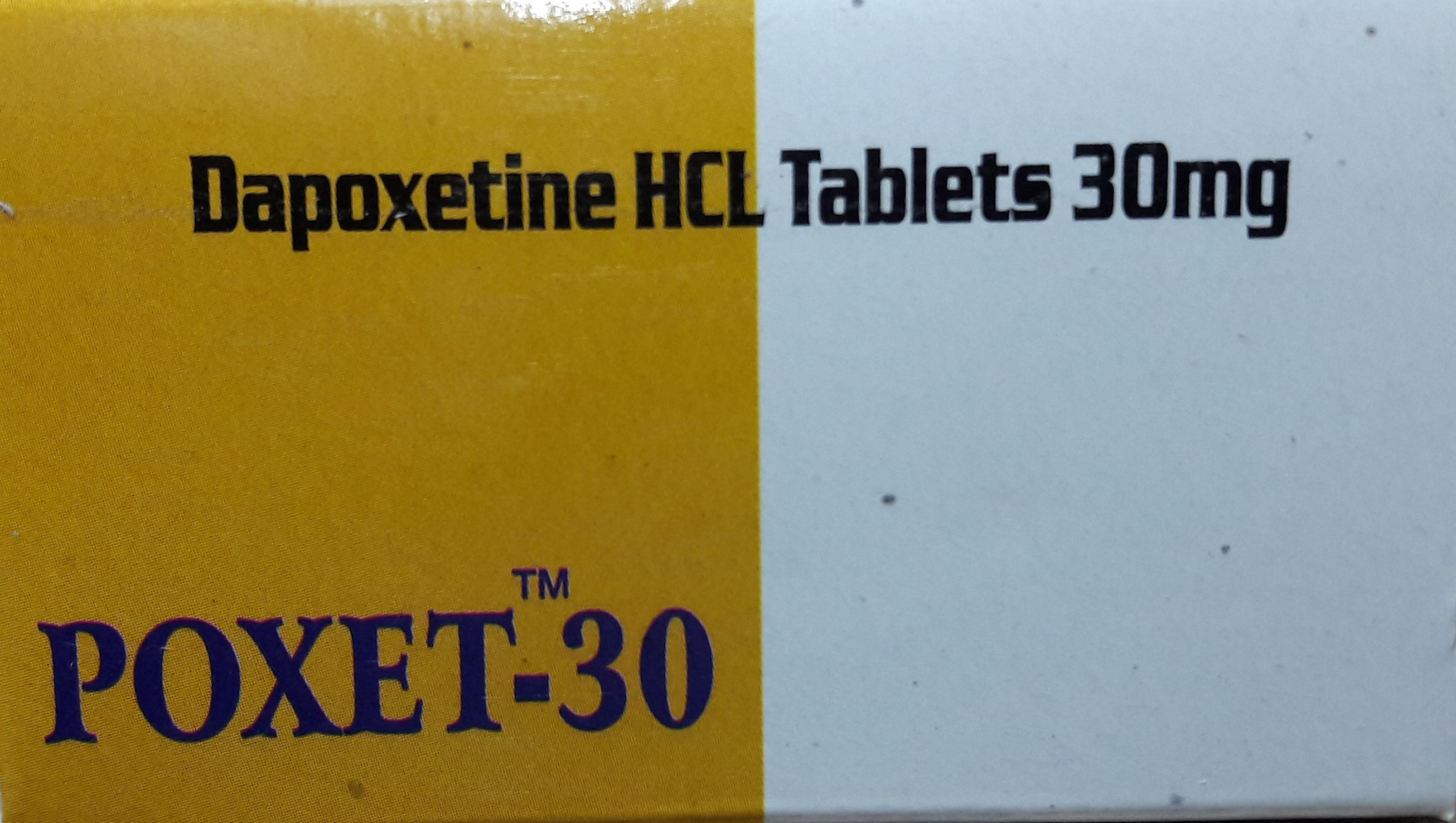 POXET 30 (DAPOXETINE HCL) TABLETS