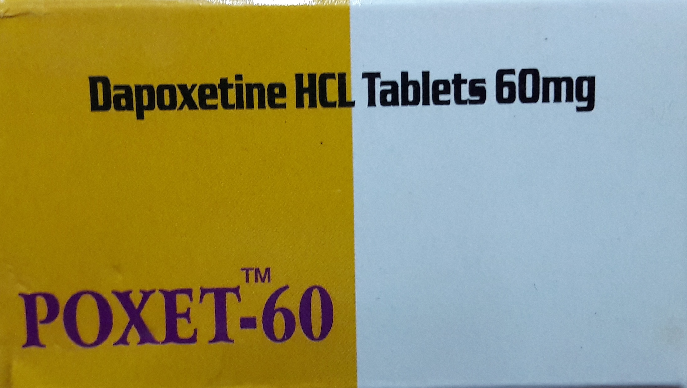 POXET 60 (DAPOXETINE HCL) TABLETS