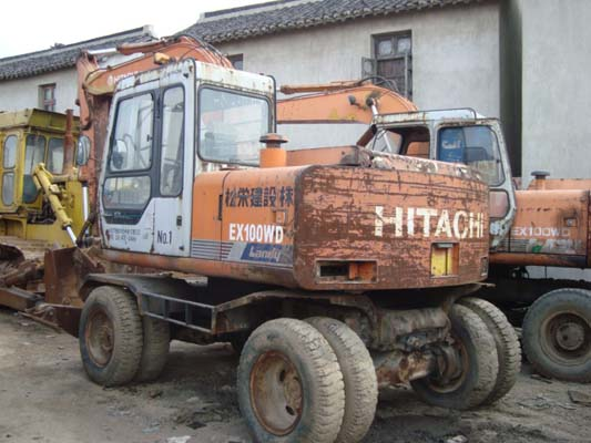 used hitachi ex100wd forklift