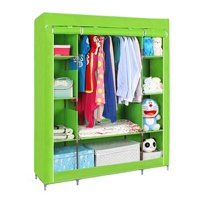 Wholesale Custom Colored Cover Triple Fabric Wardrobe For Home