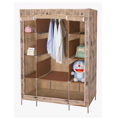 OEM Temporary Traditional Sytle Fabric Wardrobe With Drawers
