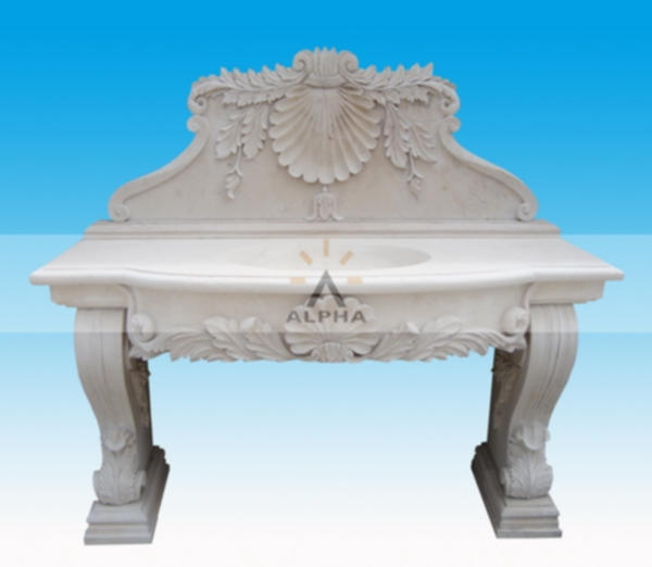 carved marble sinks
