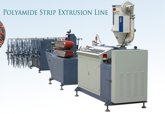 Nylon insulation strip machine line