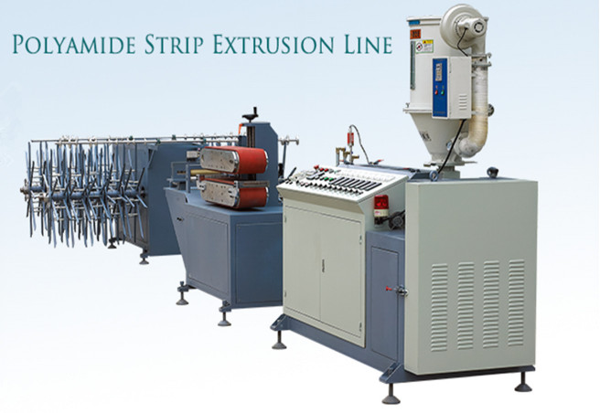 Nylon strip extrusion machine