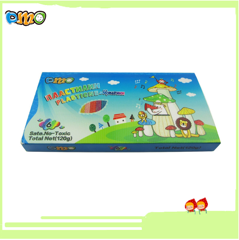 Factory Direct Sale Wholesale Educational Toy Diy Plasticine Modeling Clay for Kids 6 Colors