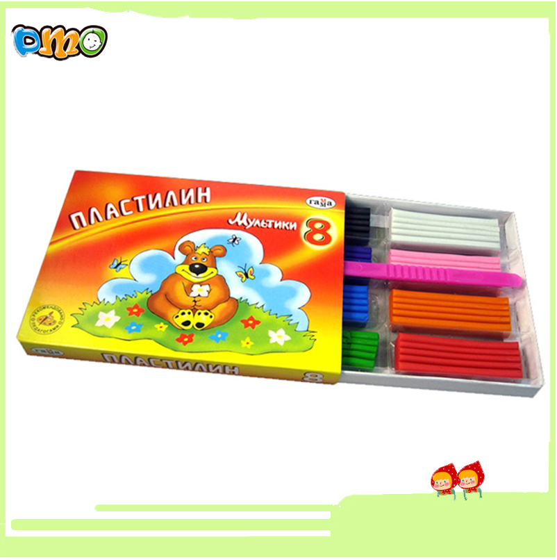 Factory Direct Sale Nontoxic Assorted Plasticine Modeling Clay 8 colors for Kids Artists DIY