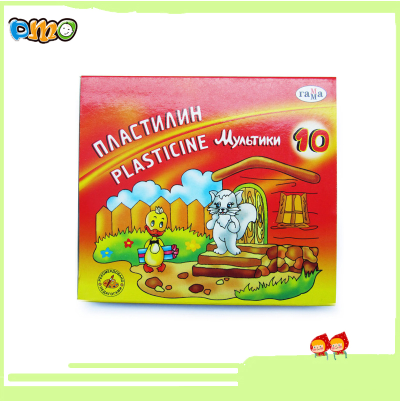 Non-toxic 10 Colors Plasticine Modeling Soft Clay for Sale