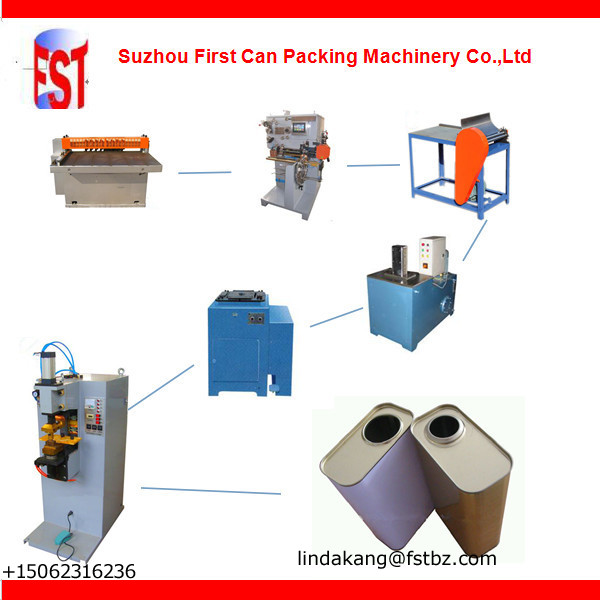 4L rectangular canister making machine line