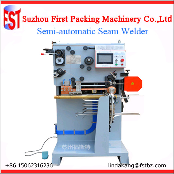 Backward seam welding machine