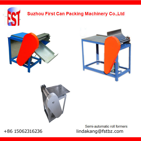 Manual can roll forming machine