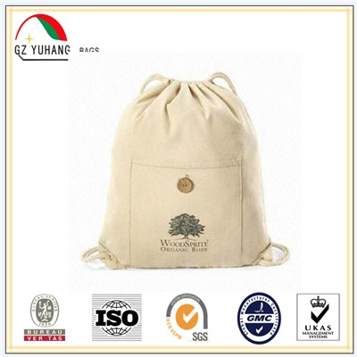 Cotton Drawstring Backpack Bag