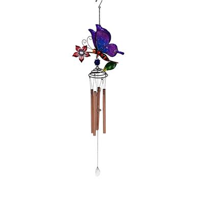 Personalized Butterfly/Dragonfly/Metal/The Garden Decoration Glass Ladybug Wind Chime