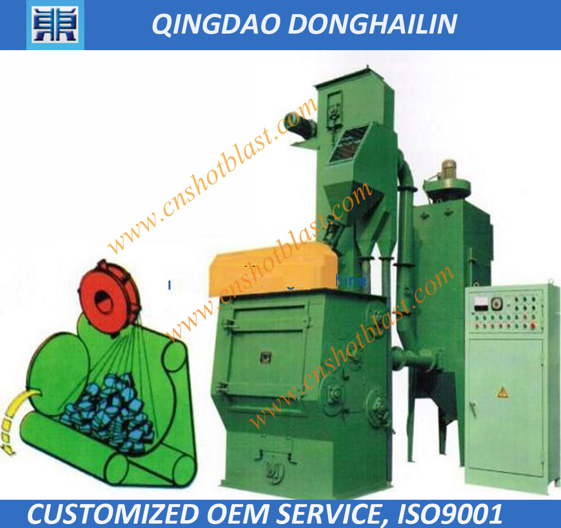 Q32 series tumbe shot blasting machine