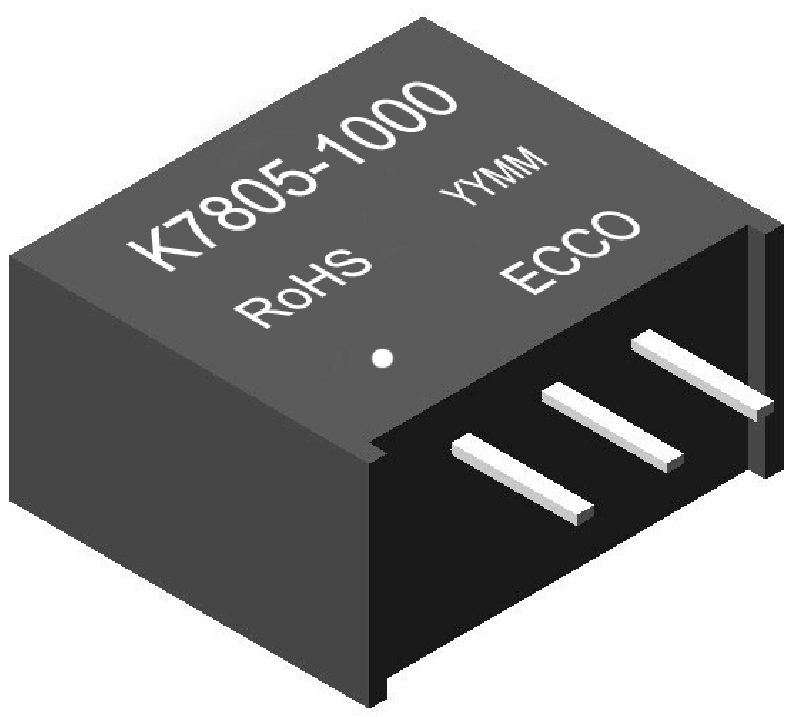 1W DC/DC converter non-isolated 500mA
