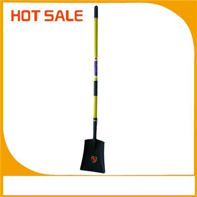 Hot Sale Fiberglass Long Handle Steel Shovel