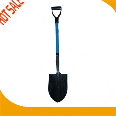 Hot Sale Fiberglass Handle PP Grip Steel Spade