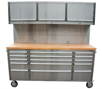 72 Inch Mobile Stainless Steel Kitchen Tool Cabinet 15 Drawer And Three Cupboard
