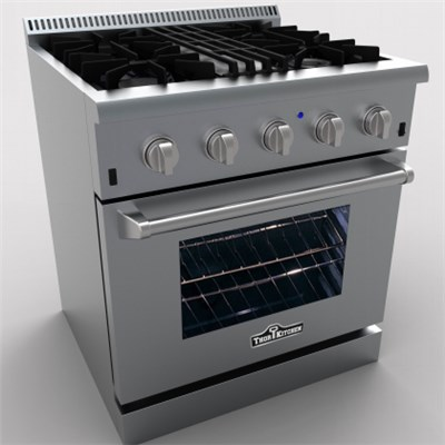 30 Inch Stainless Steel 4 Burner Freestanding Dual Fuel  Gas Range With 4.2 Cu.ft Oven Capacity