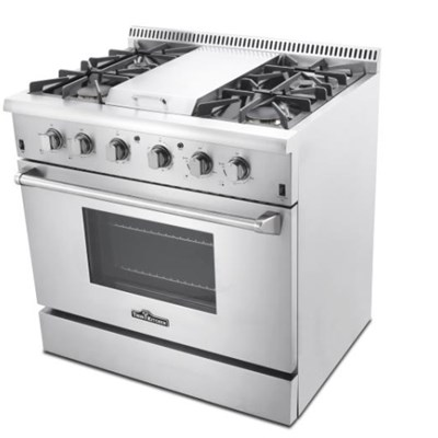 36 Inch 6 Top Burner Gas Cooking Range With Commercial Convection Fan