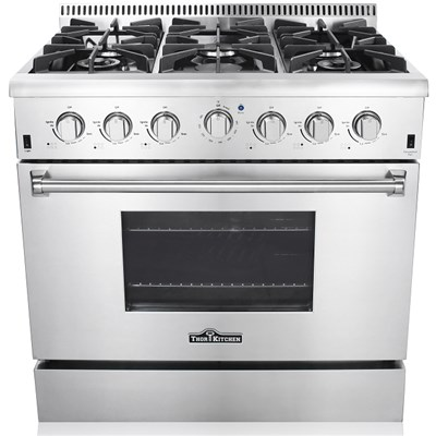 CSA approved 36 inch 6 Burner Stainless Steel Freestanding  Gas Range