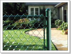 Galvanized chain link diamond shpe mesh fence