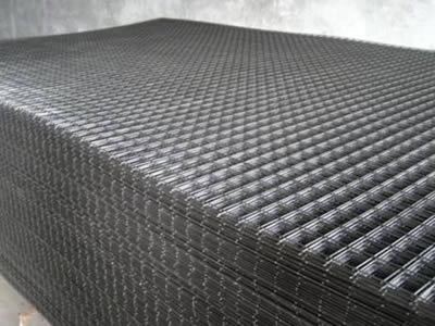black Reinforcing Mesh/welded wire mesh panel for reinforcing