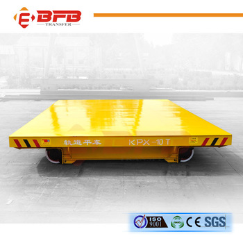 China manufacturer long distance battery powered rail flat cart