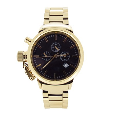 Fashion Custom Mens Sport Watches Gold