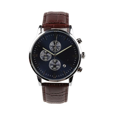 Classic Customized Mens Blue Dress Watch