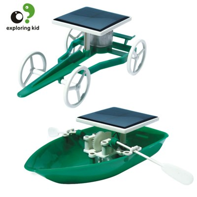Solar Car And Boat Green Energy For Assembling Toys For Children ABS