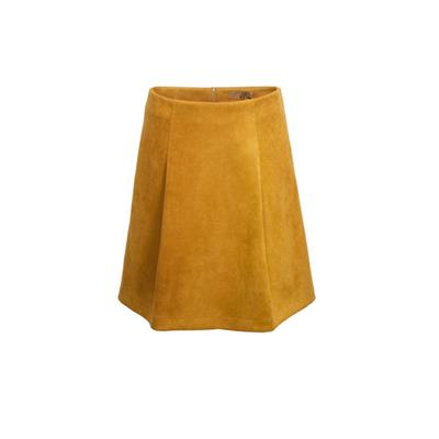 Solid Colour Deep Pleat Conceal Zipper Fastening Skirt