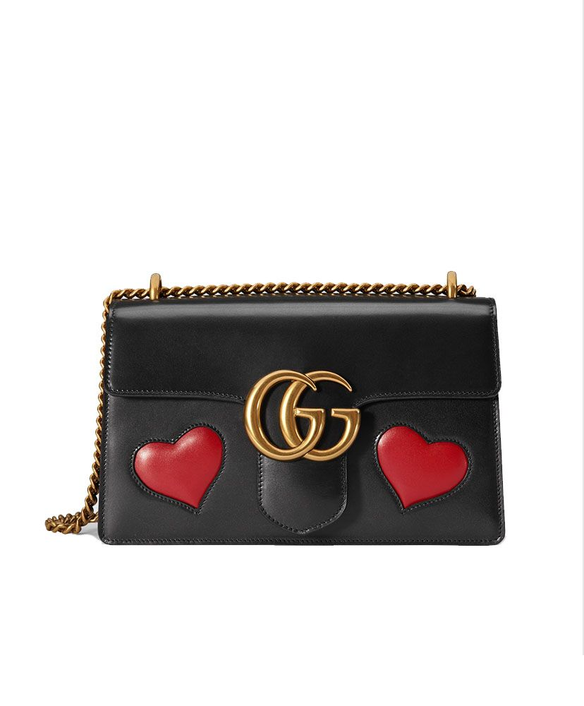 Gucci GG Marmont Leather Shoulder black Bag