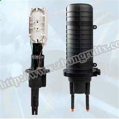 High Quality 2in 2out Max Capaicty 24cores Fiber Optic Splice Closure