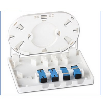 86 Type 2 Or 4 Fiber Wall Mount Fiber Optic Termination Box, Indoor Face Plate