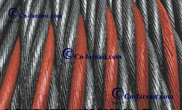 Color Strand Ungalvanized Steel Wire Rope 6*36