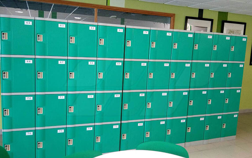 Four Tier School Lockers Made Of ABS Plastic