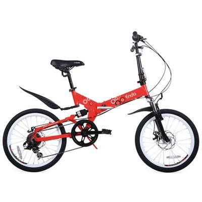New Fashion Mini 7 Speed Folding Red Bicycle With Fender