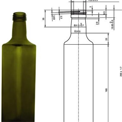 Condiment Glass Bottle