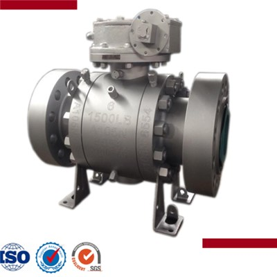 Cast Steel Flanged End Trunnion Mounted Ball Valve